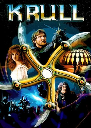1980's Movie - KRULL - POSTERIZED ARTWORK canvas print - self adhesive poster - photo print